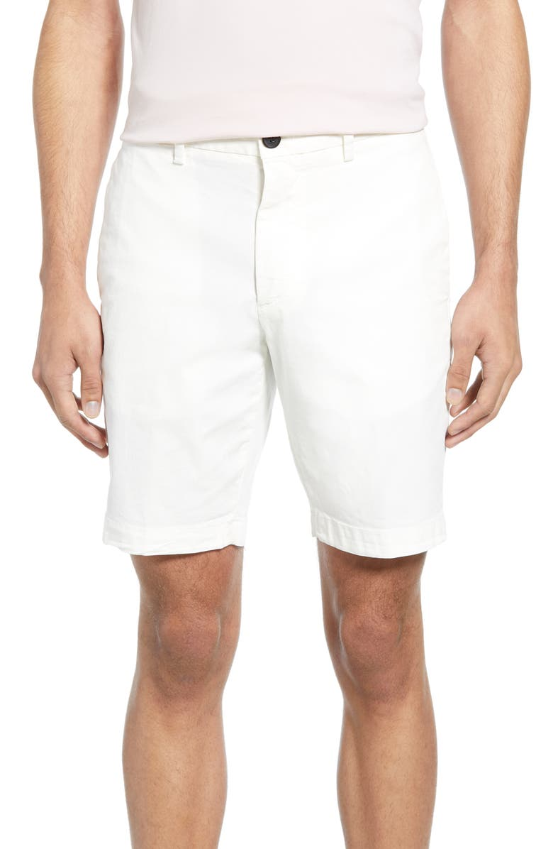 THEORY Zaine Patton Regular Fit Shorts, Main, color, 100