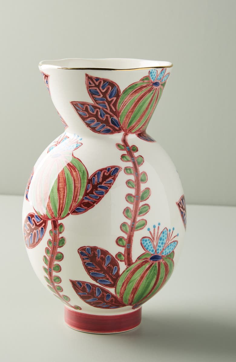 ANTHROPOLOGIE Medium Elsa Vase, Main, color, MULTI