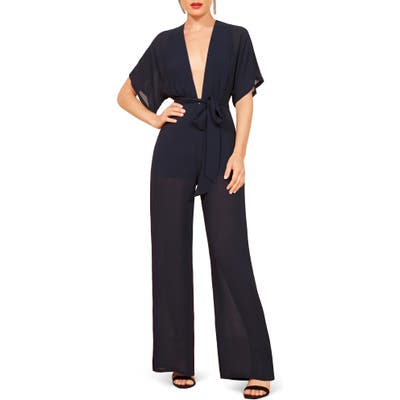 Reformation Lemongrass Jumpsuit, Blue