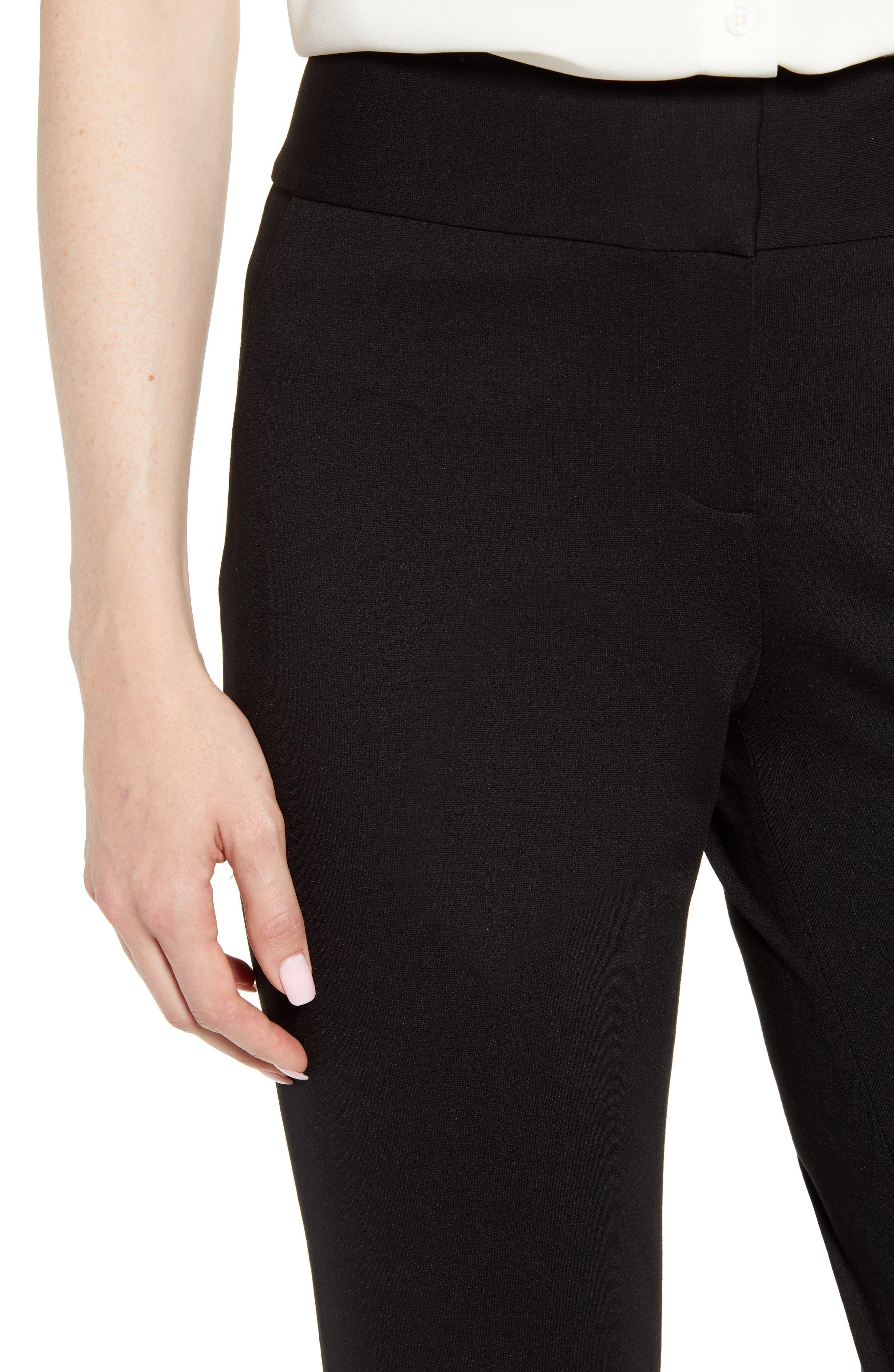 ,                             Ponte Ankle Pants,                             Alternate thumbnail 6, color,                             BLACK