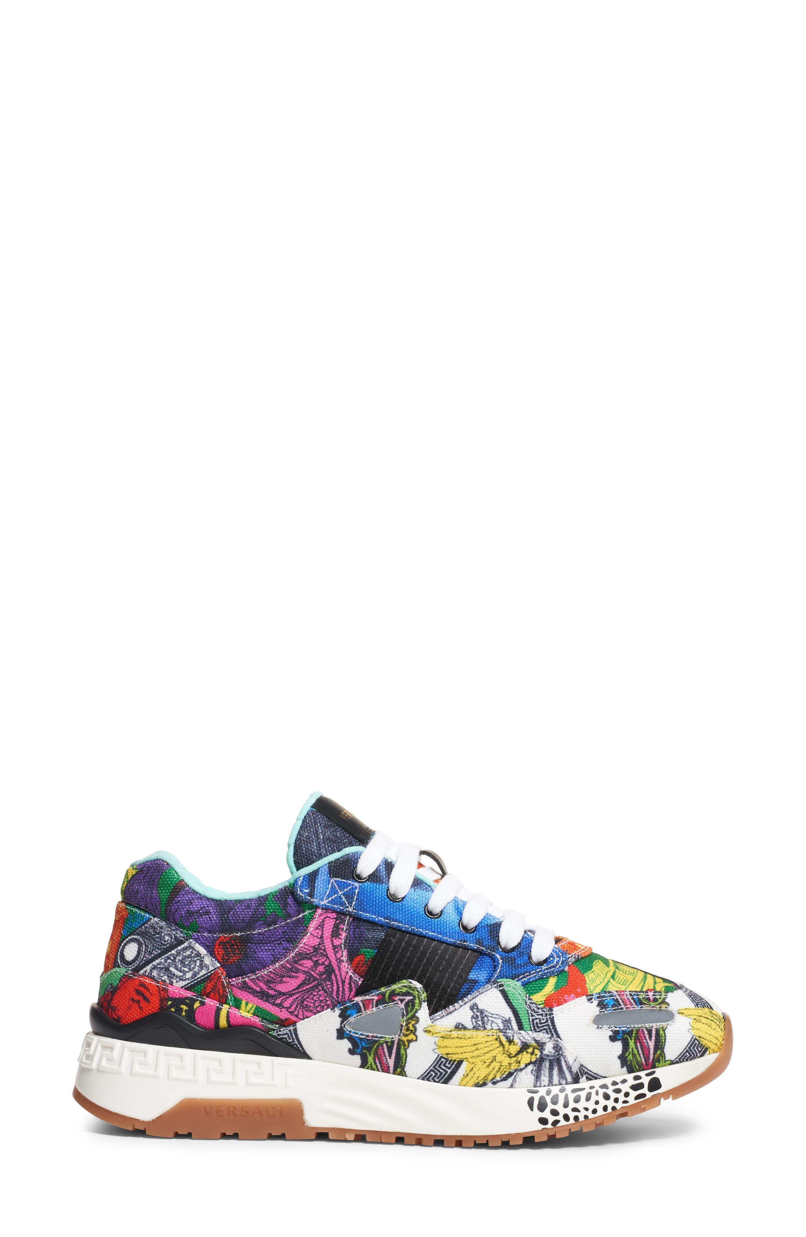 ,                             Multi Print Sneaker,                             Alternate thumbnail 3, color,                             400