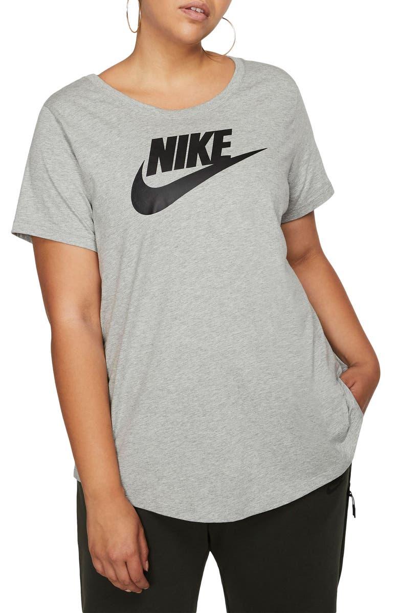NIKE Sportswear Futura Tee, Main, color, DK GREY HEATHER/ BLACK
