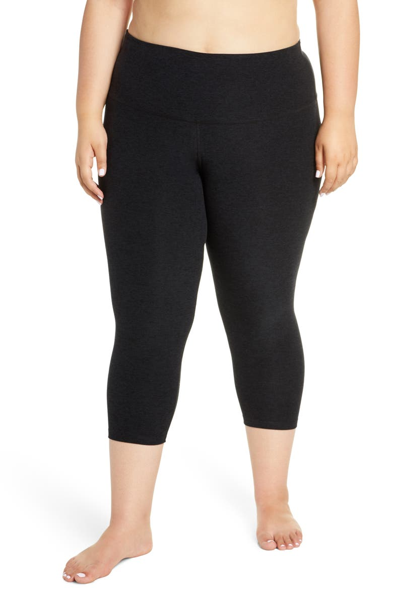 BEYOND YOGA Walk & Talk Space Dye High Waist Leggings, Main, color, 001