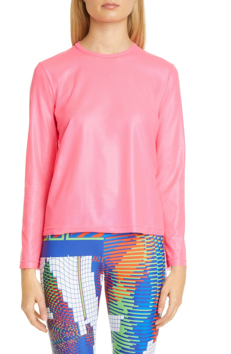 JUNYA WATANABE Long Sleeve T-Shirt, Main, color, NEON PINK