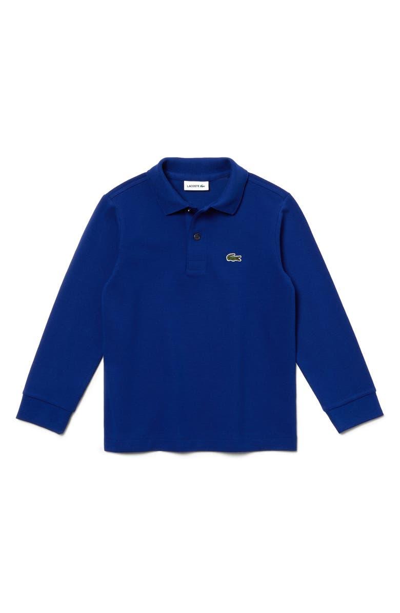 de6a6e274e Lacoste Long Sleeve Solid Piqué Polo (Big Boys) | Nordstrom