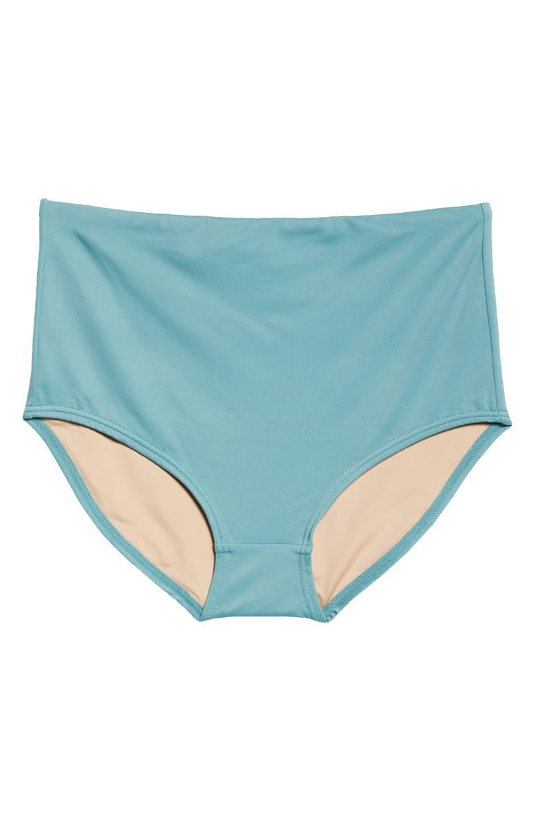 MADEWELL Second Wave Retro High Waist Bikini Bottoms, Main, color, SUMMER BREEZE