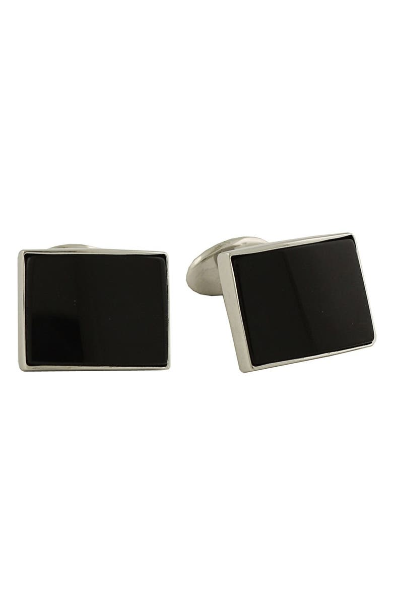 DAVID DONAHUE Sterling Silver Cuff Links, Main, color, SILVER