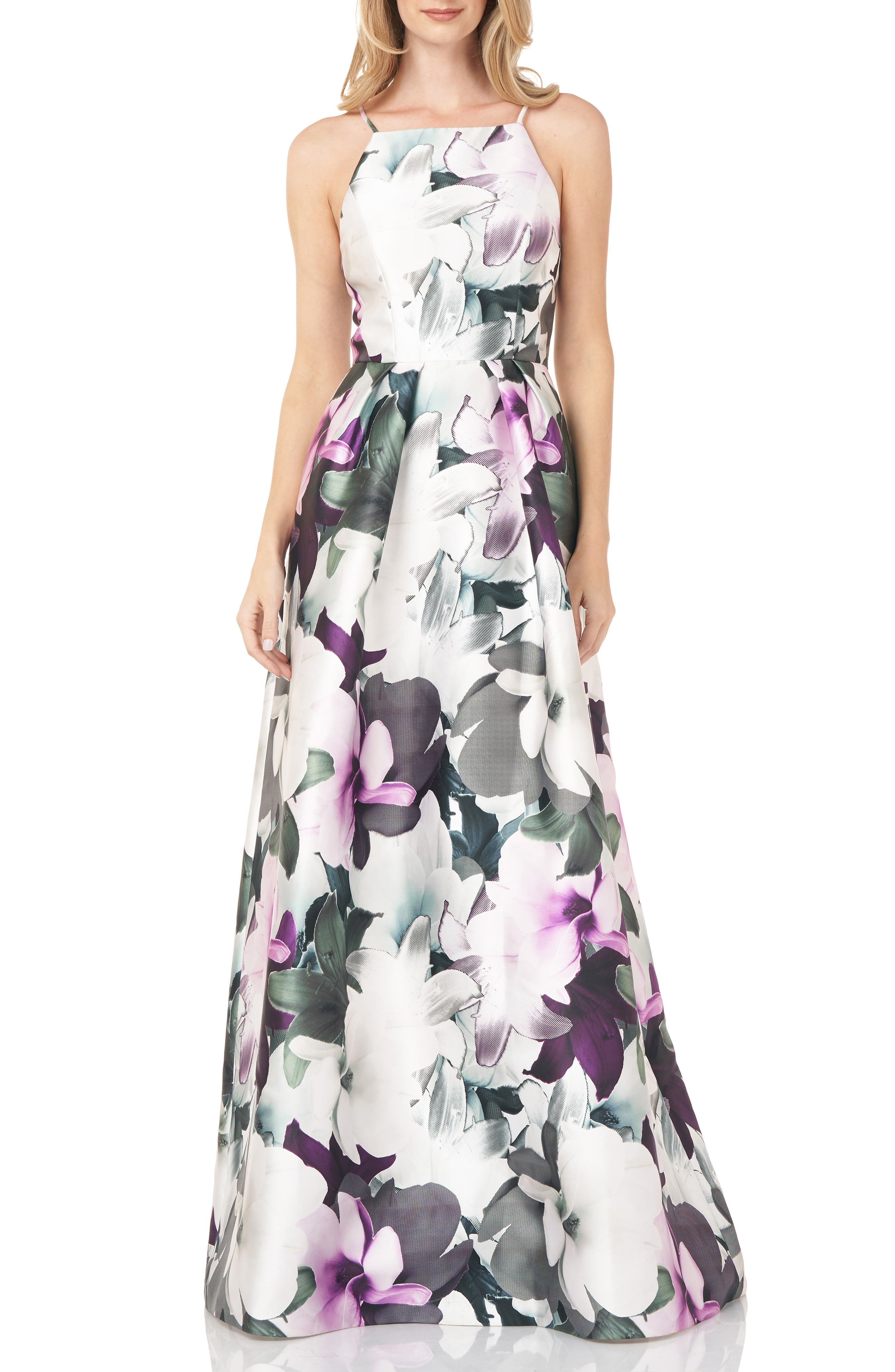 Floral Mikado Gown