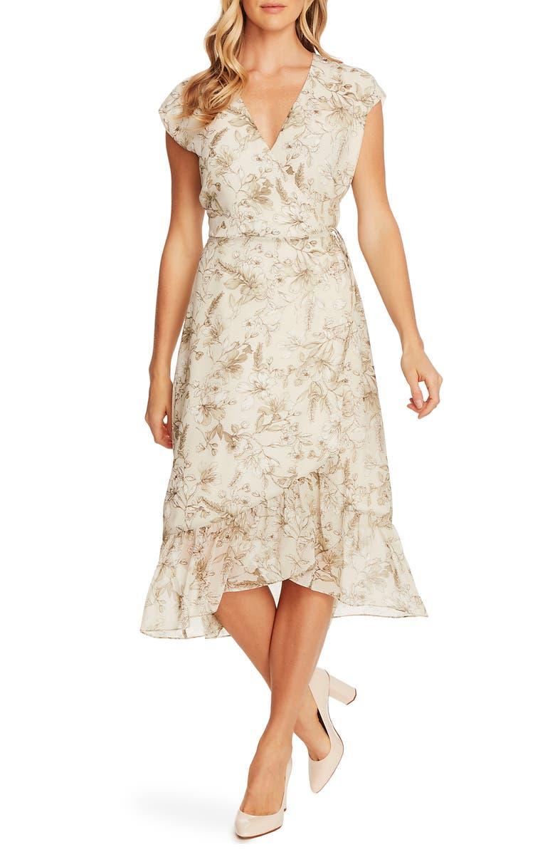 VINCE CAMUTO Botanical Breeze Faux Wrap Dress, Main, color, 331