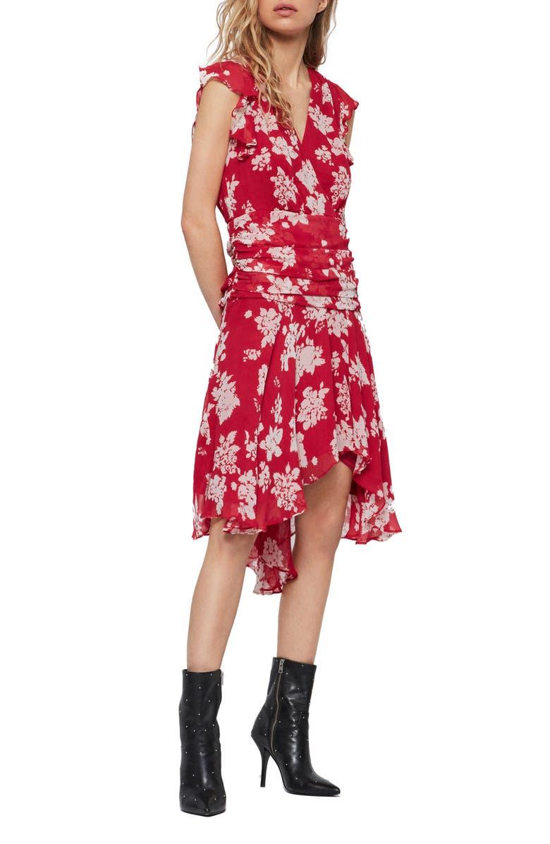 ALLSAINTS Caris Lea Handkerchief Hem Dress, Main, color, 600