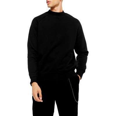 Topman Classic Crew Sweatshirt, Black