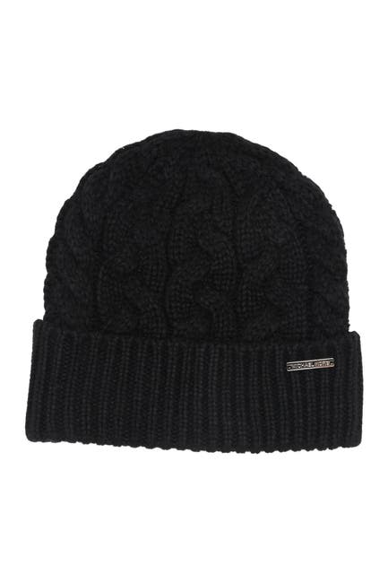Image of Michael Kors Patchwork Cable Knit Beanie