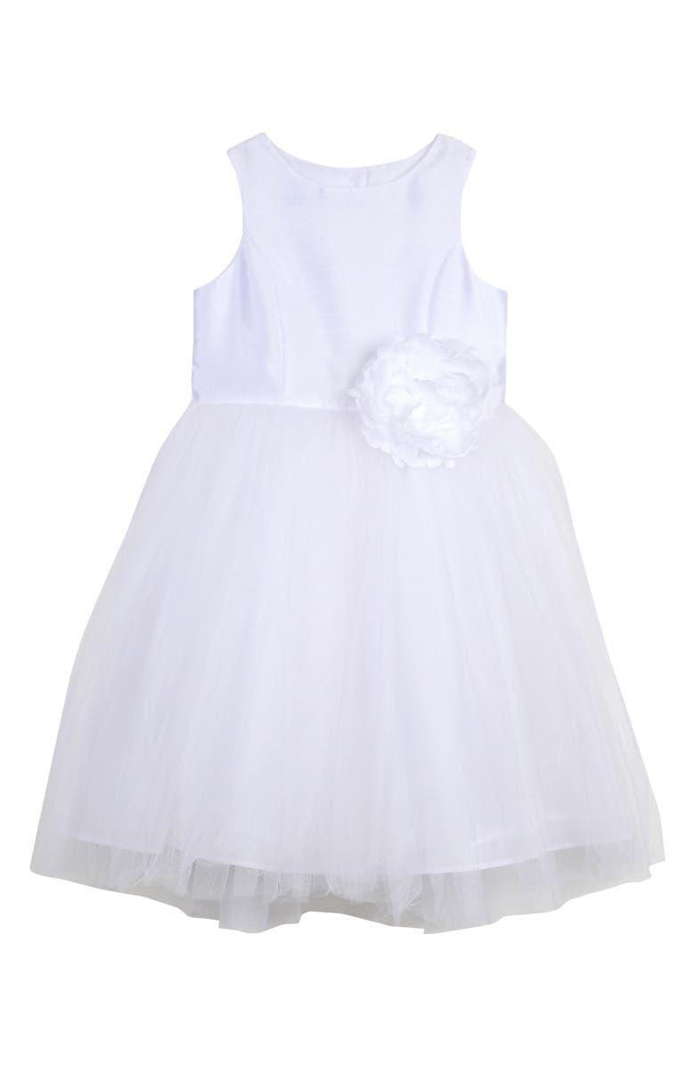 PIPPA & JULIE Ballerina Dress, Main, color, WHITE