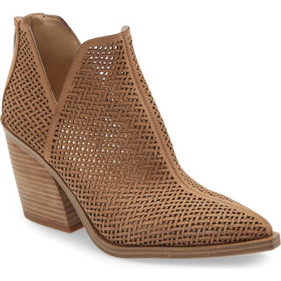 Vince Camuto Gibbela Woven Pointed Toe Bootie, Beige