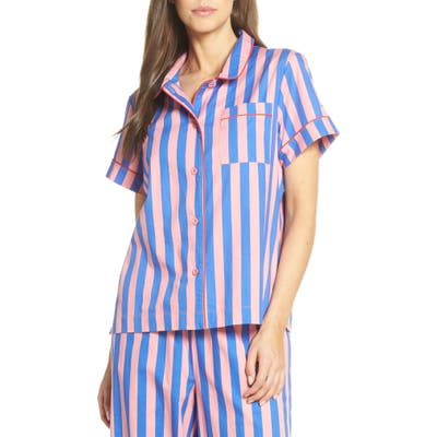 Ban. do Stripe Pajama Top, Pink