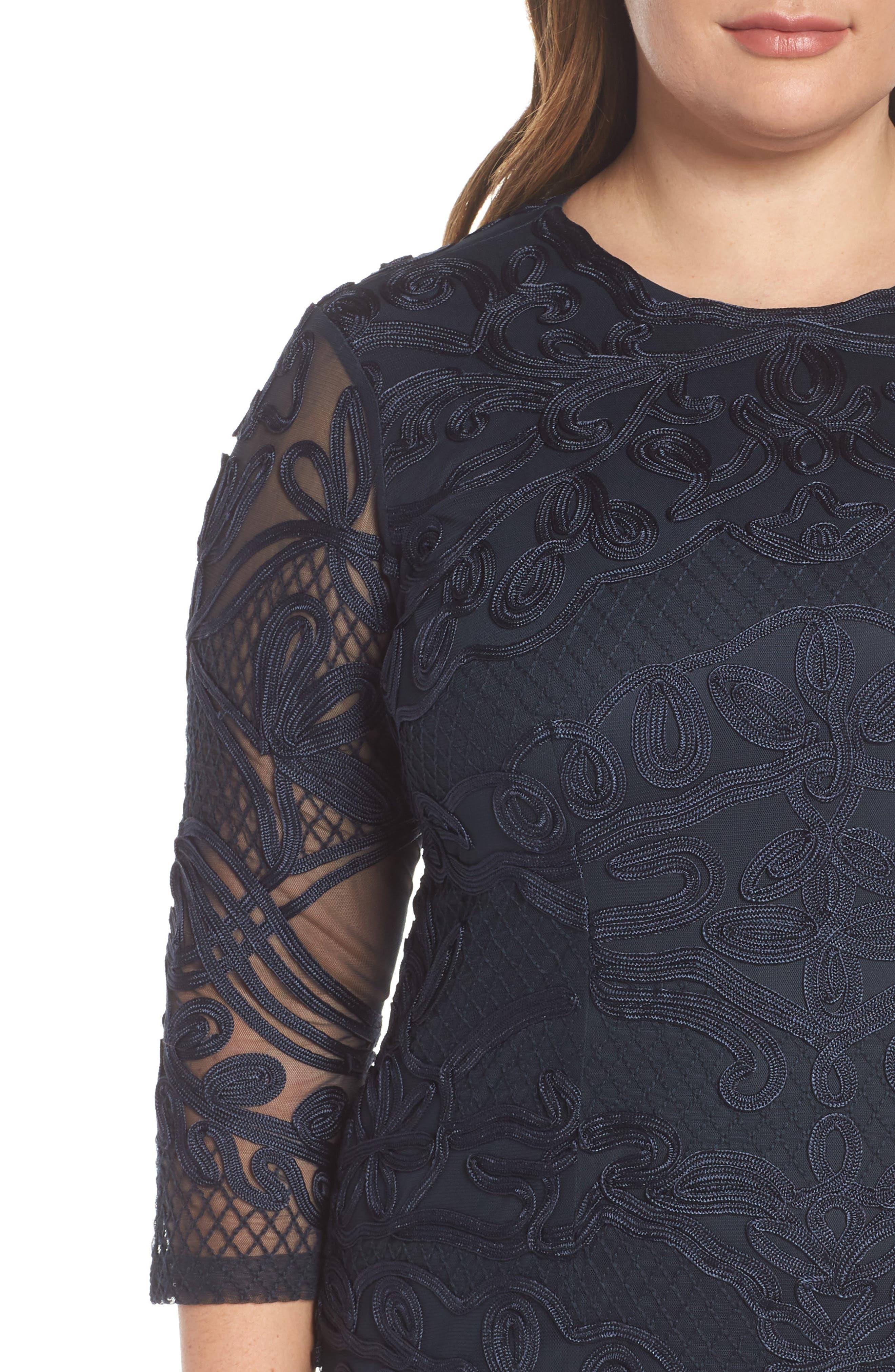 ,                             Soutache Sheath Dress,                             Alternate thumbnail 10, color,                             410