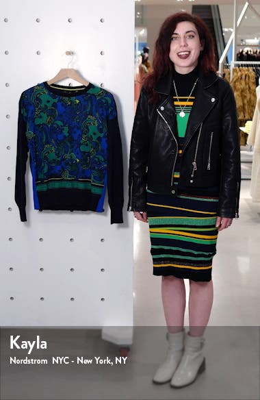 Bekii Stargaze Woven Front Sweater, sales video thumbnail