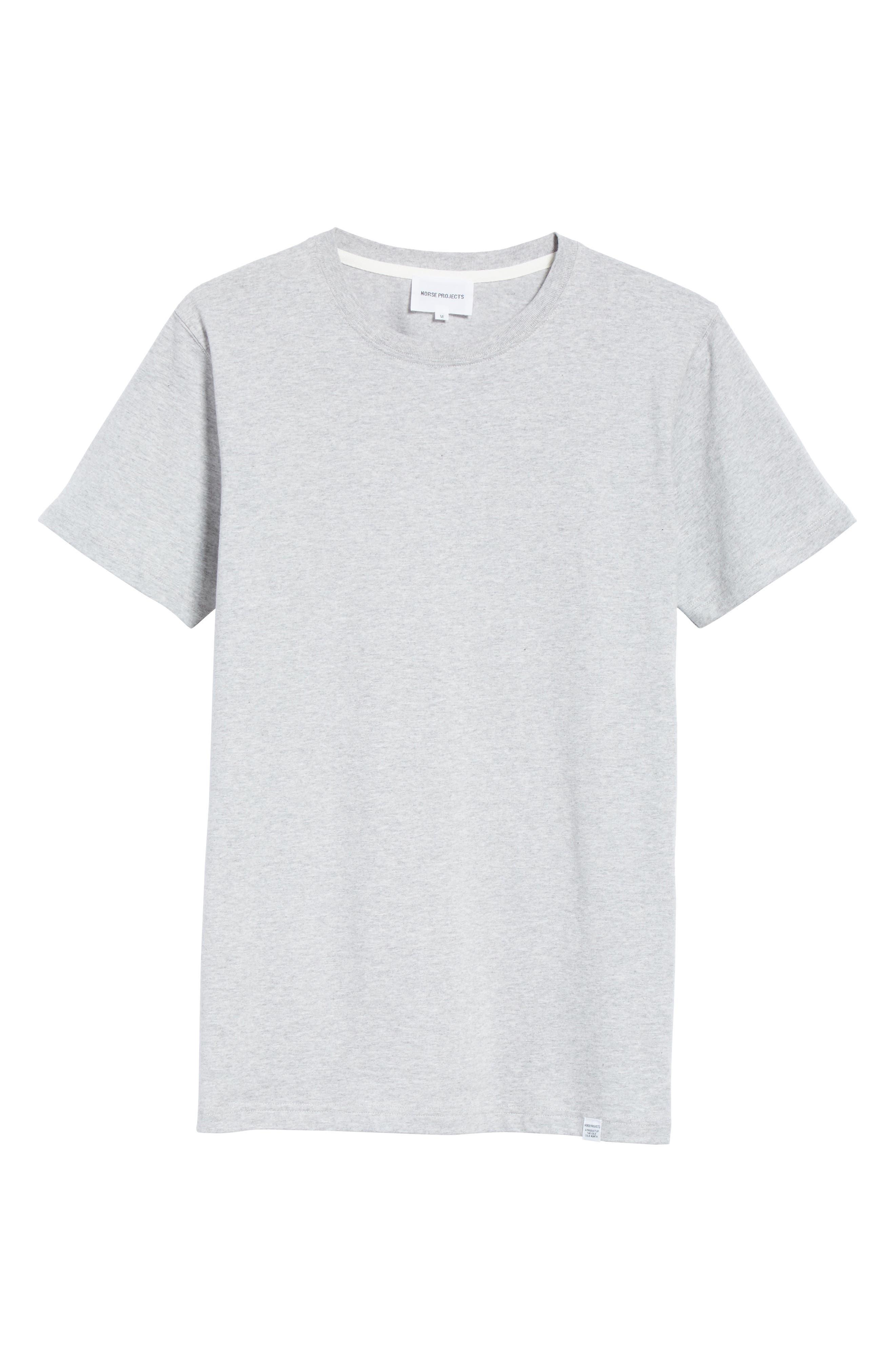 ,                             Niels Crewneck T-Shirt,                             Alternate thumbnail 6, color,                             LIGHT GREY MELANGE