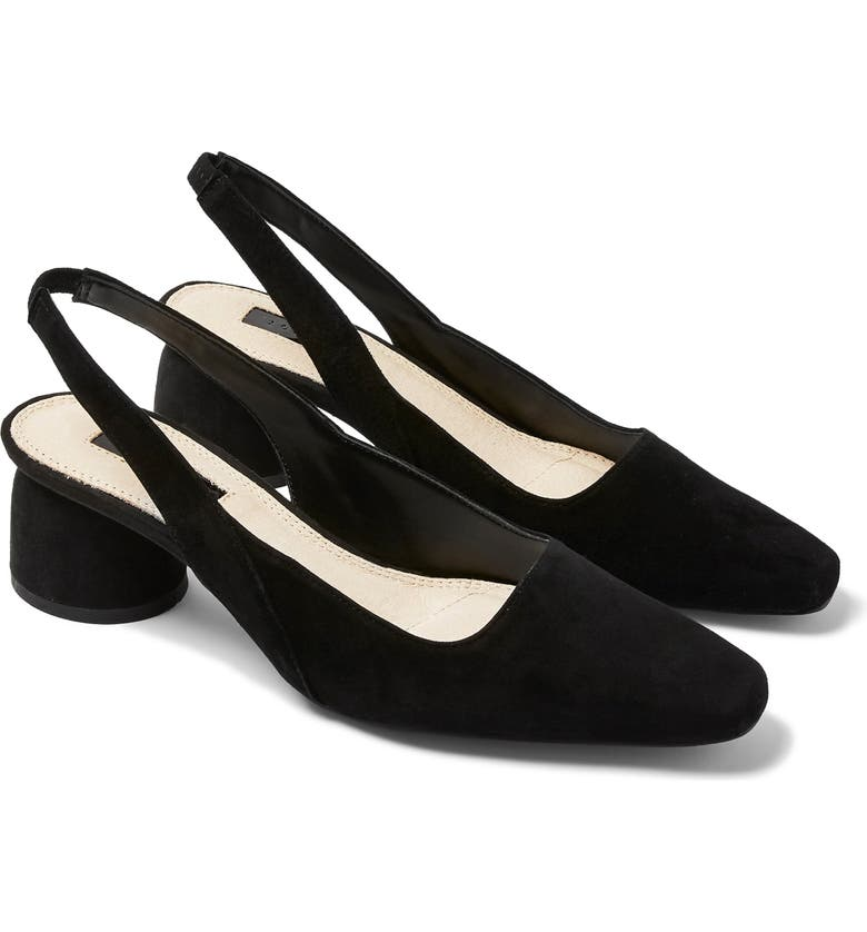 TOPSHOP Justify Slingback Pump, Main, color, BLACK