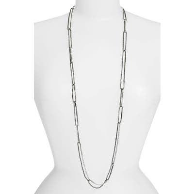 Lisa Freede Long Crystal Chain Link Necklace