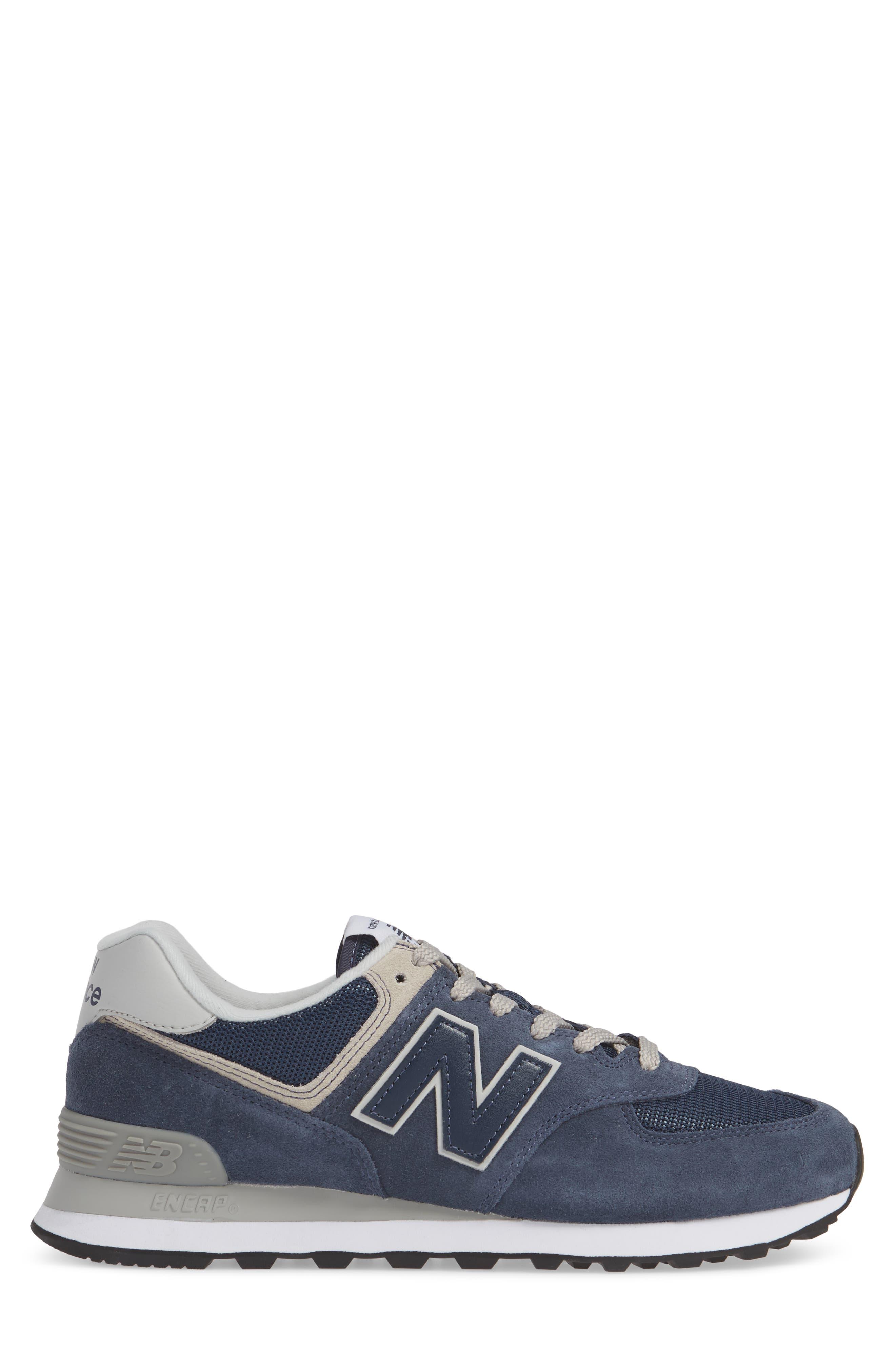 ,                             574 Classic Sneaker,                             Alternate thumbnail 3, color,                             BLACK IRIS