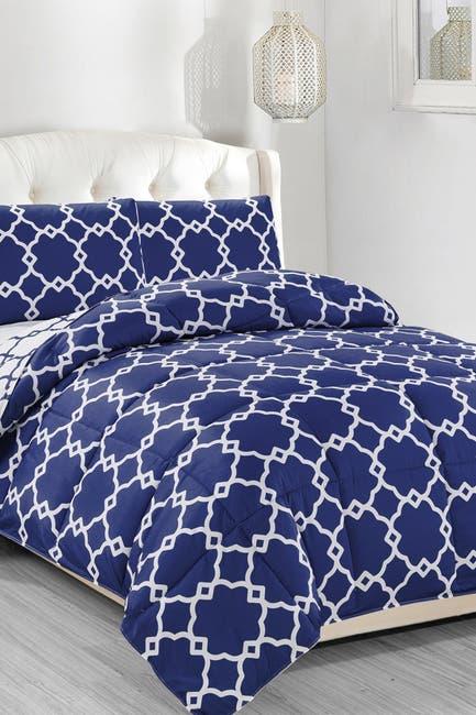 Image of Duck River Textile Full/Queen Greyson Down Alternative Reversible Comforter Set - Navy