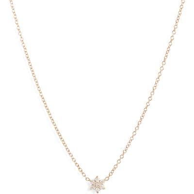 Zoe Chicco Diamond Flower Necklace