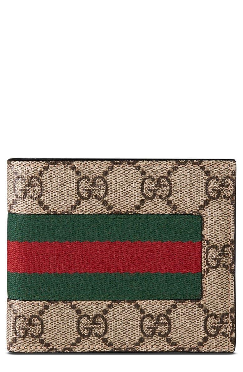 GUCCI Supreme Wallet, Main, color, TAN