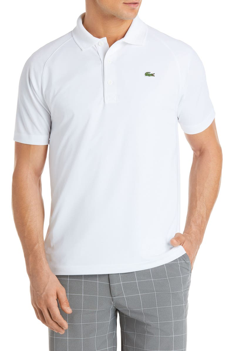 LACOSTE Ultra Dry Polo, Main, color, WHITE