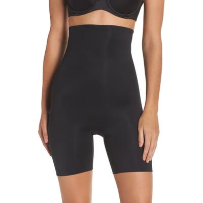 Spanx Power Conceal-Her High Waist Mid-Thigh Shaping Shorts, Black