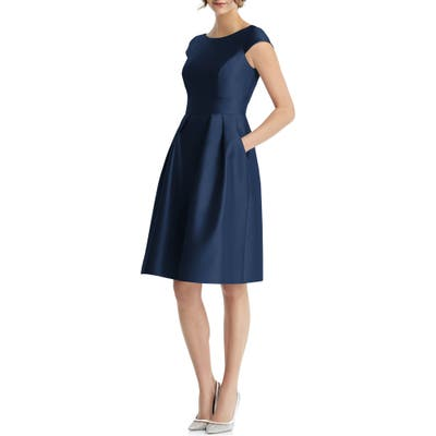 Alfred Sung Cap Sleeve Cocktail Dress, Blue