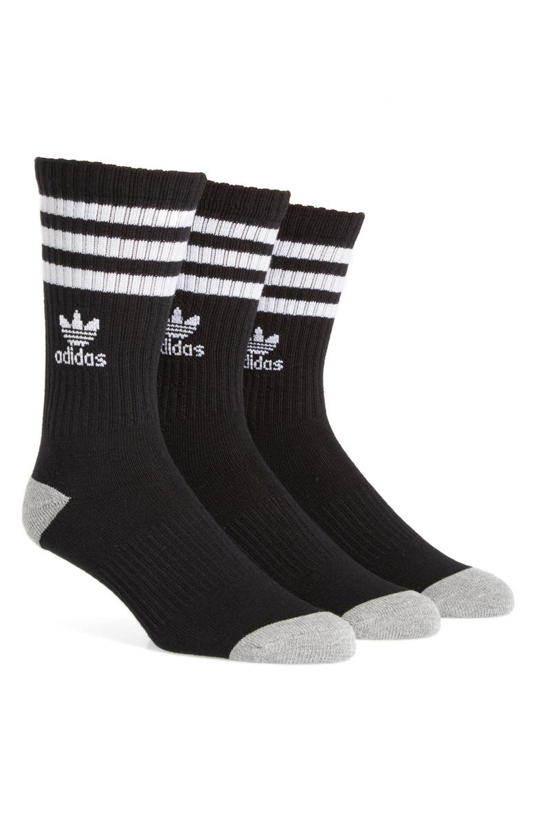 ADIDAS 3-Pack Original Cushioned Crew Socks, Main, color, 001