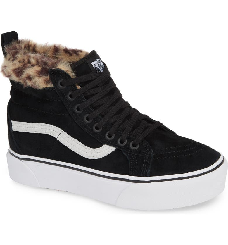 discount coupon top design latest releases Sk8-Hi Faux Fur Lined Platform Sneaker