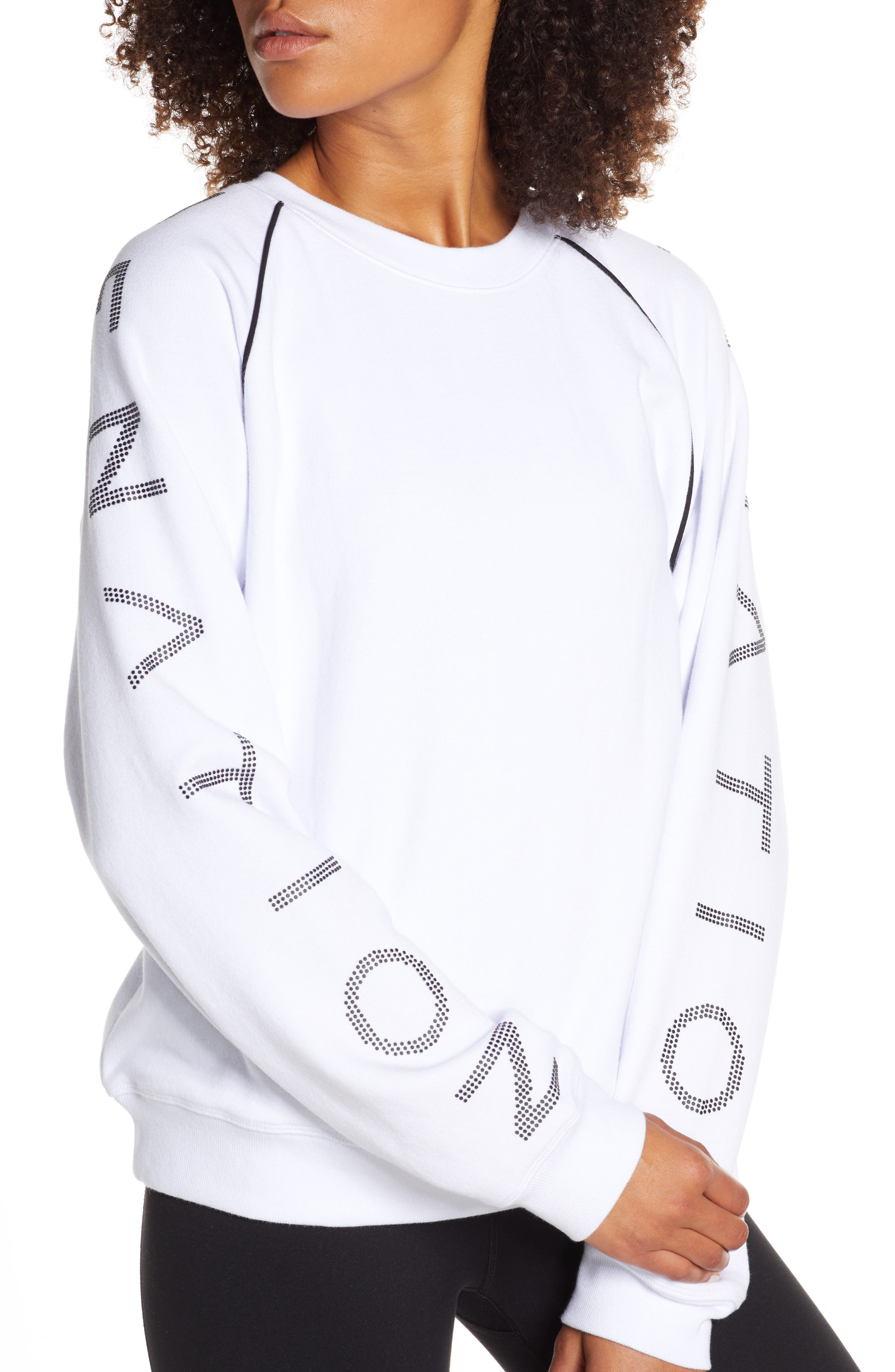 ,                             Highline Sweatshirt,                             Alternate thumbnail 5, color,                             WHITE/ BLACK