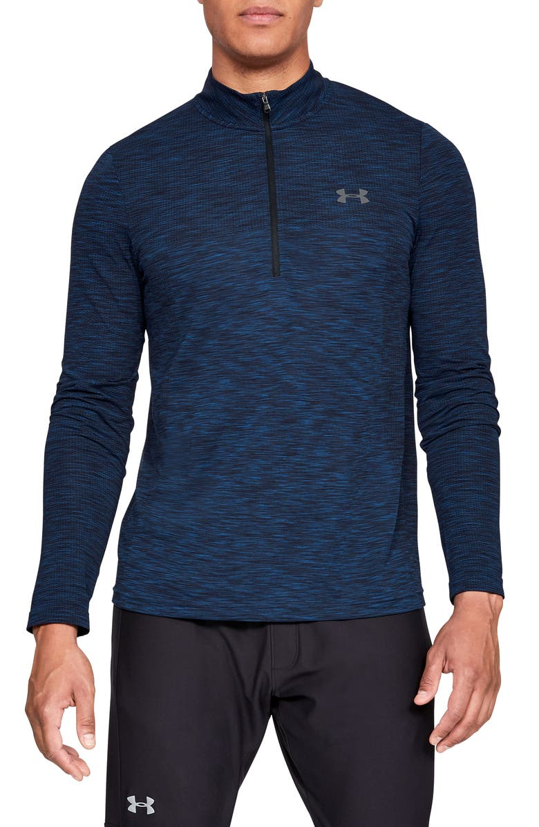 UNDER ARMOUR Siphon Regular Fit Half-Zip Pullover, Main, color, NAVY