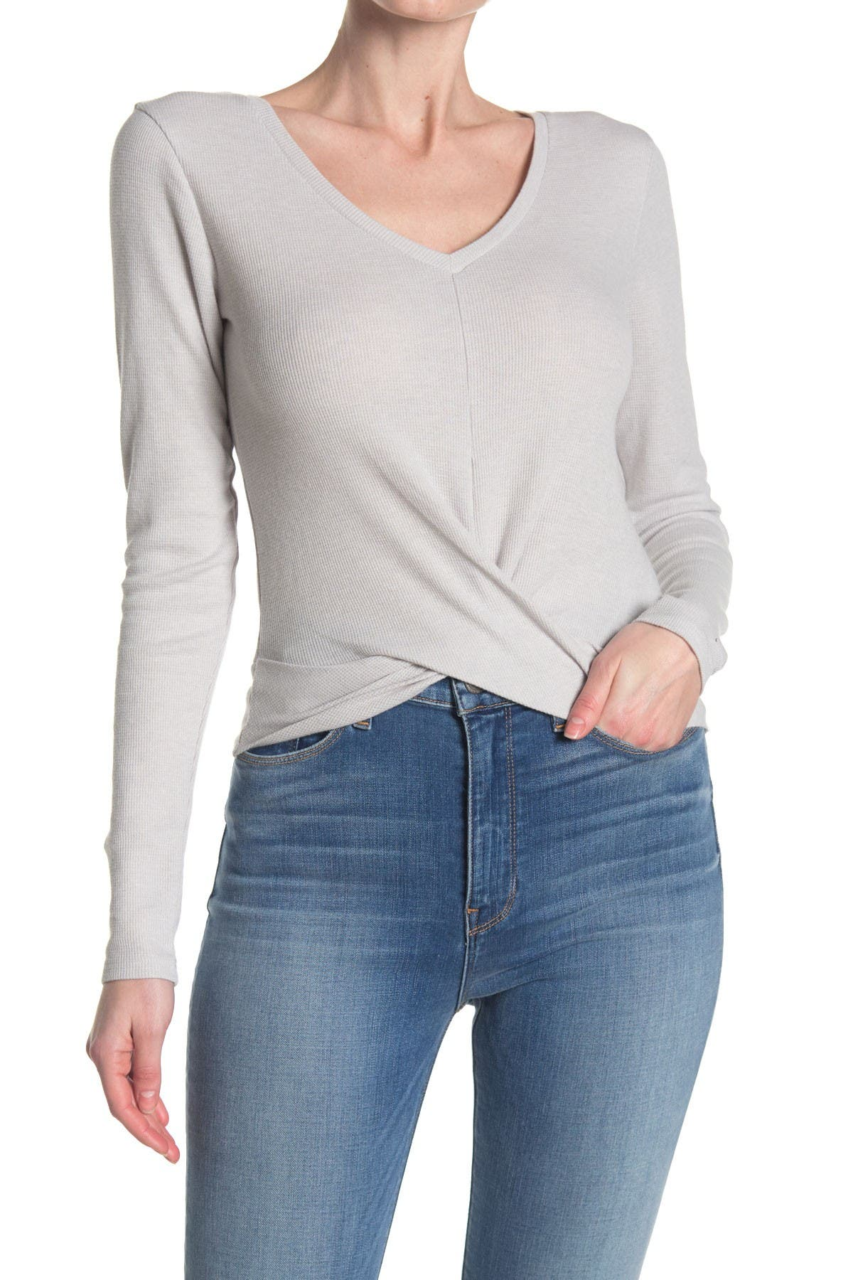 Image of Abound Twist Front V-Neck Top
