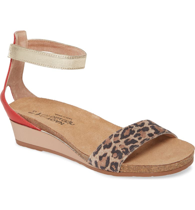 NAOT 'Pixie' Sandal, Main, color, CHEETAH PRINT SUEDE