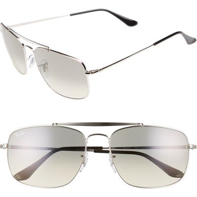 Ray-Ban The Colonel 61Mm Aviator Sunglasses - Silver
