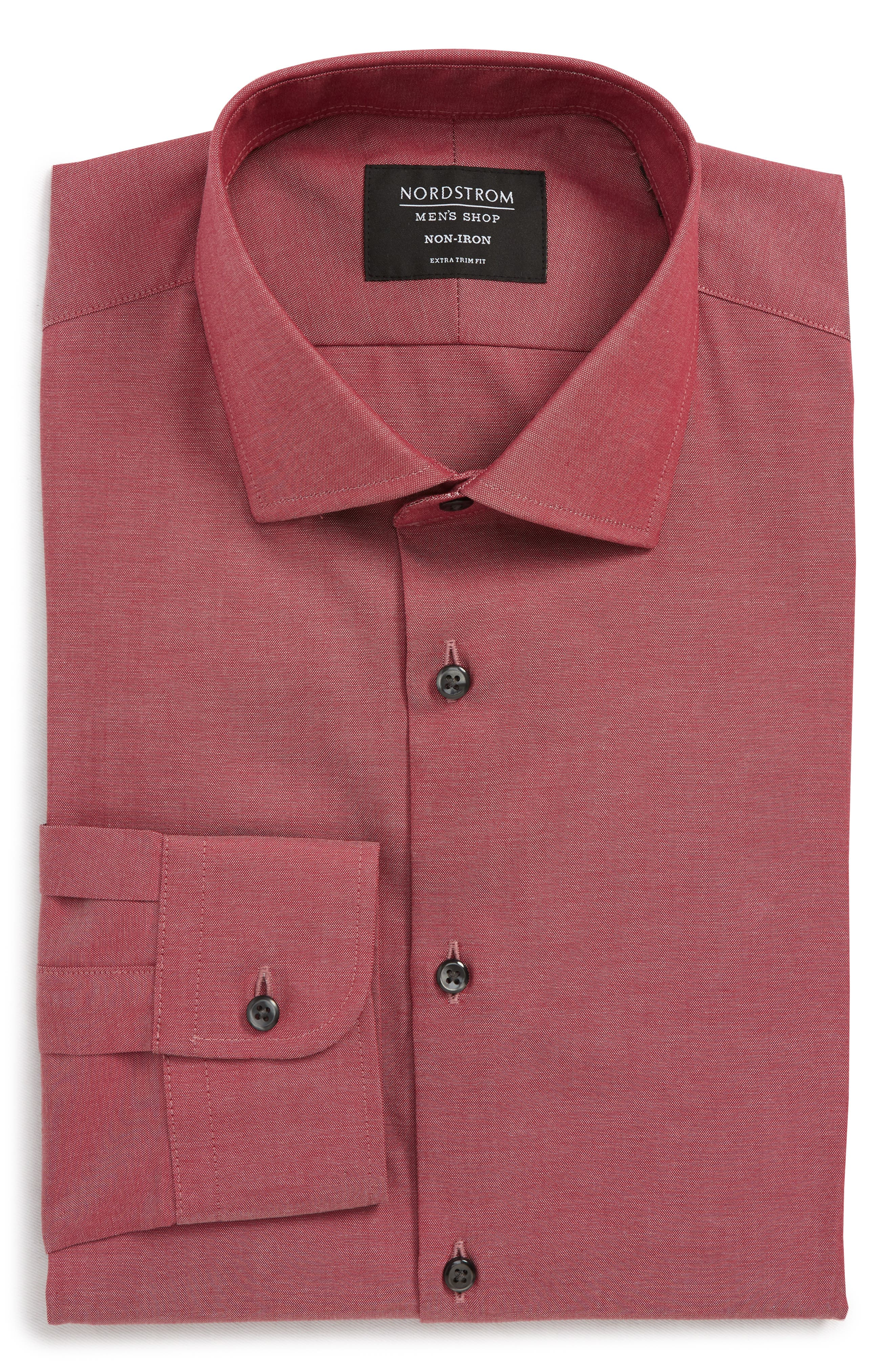 ,                             Extra Trim Fit Non-Iron Solid Dress Shirt,                             Alternate thumbnail 41, color,                             601