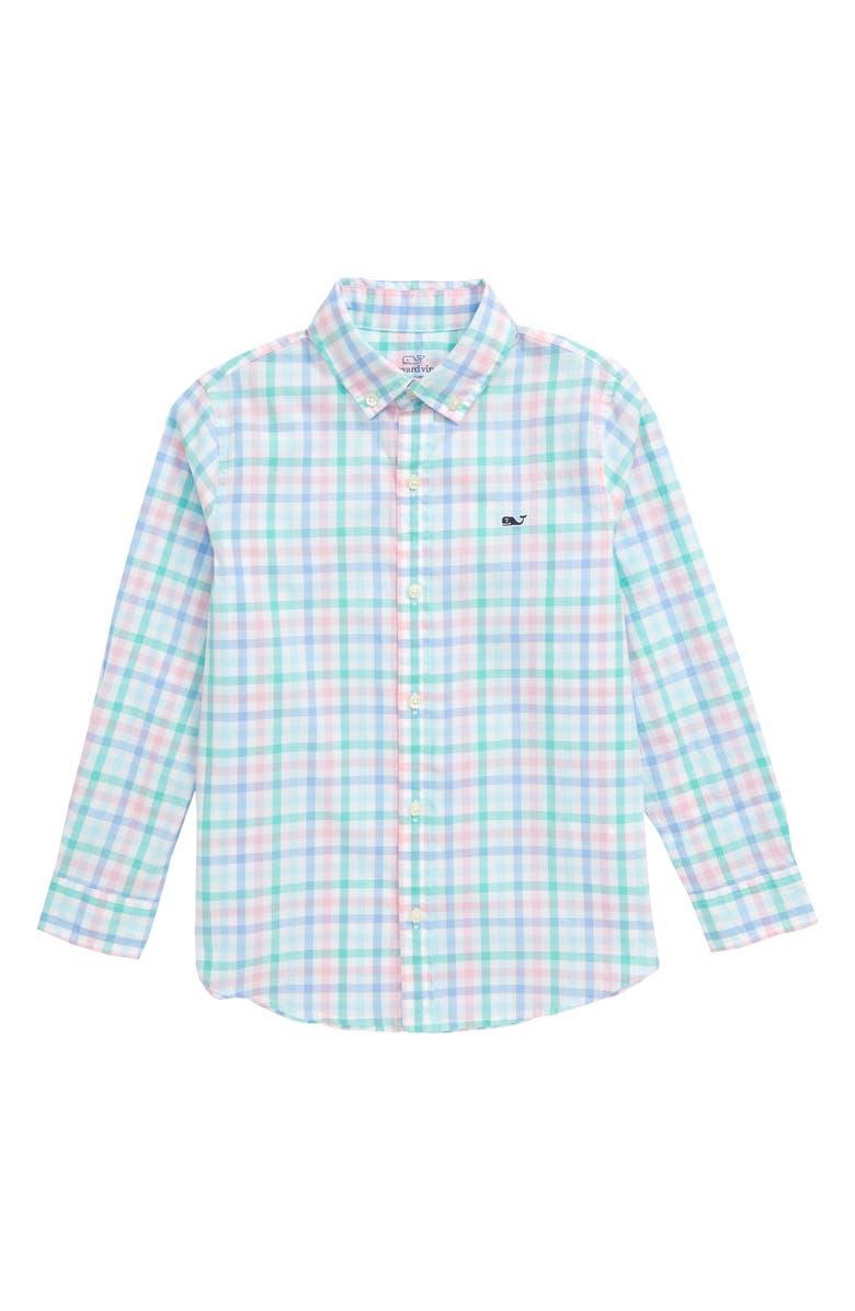 VINEYARD VINES Palm Beach Check Button-Down Shirt, Main, color, 300