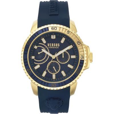 Versus Versace Aberdeen Silicone Strap Watch, 45Mm