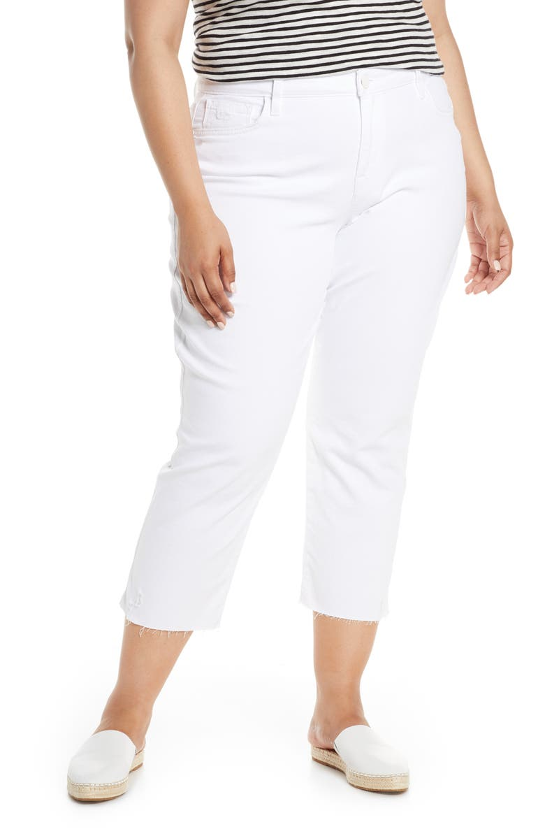 SANCTUARY Modern Standard Crop Straight Leg Jeans, Main, color, 100