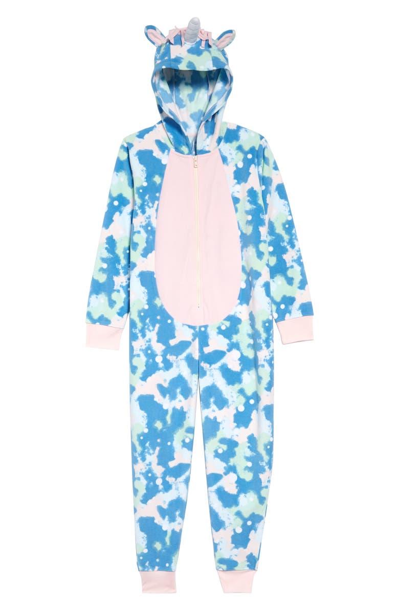 TUCKER + TATE Animal Body Suit, Main, color, BLUE PARISIAN COSMIC UNICORN