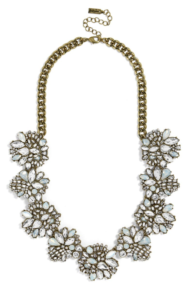 BAUBLEBAR Lissandra Crystal Statement Necklace, Main, color, 100