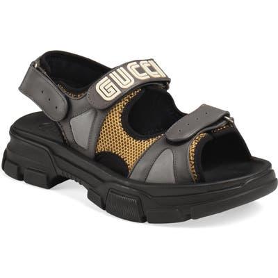 Gucci Agru Sport Sandal, Grey