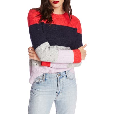 Court & Rowe Colorblock Sweater, Red