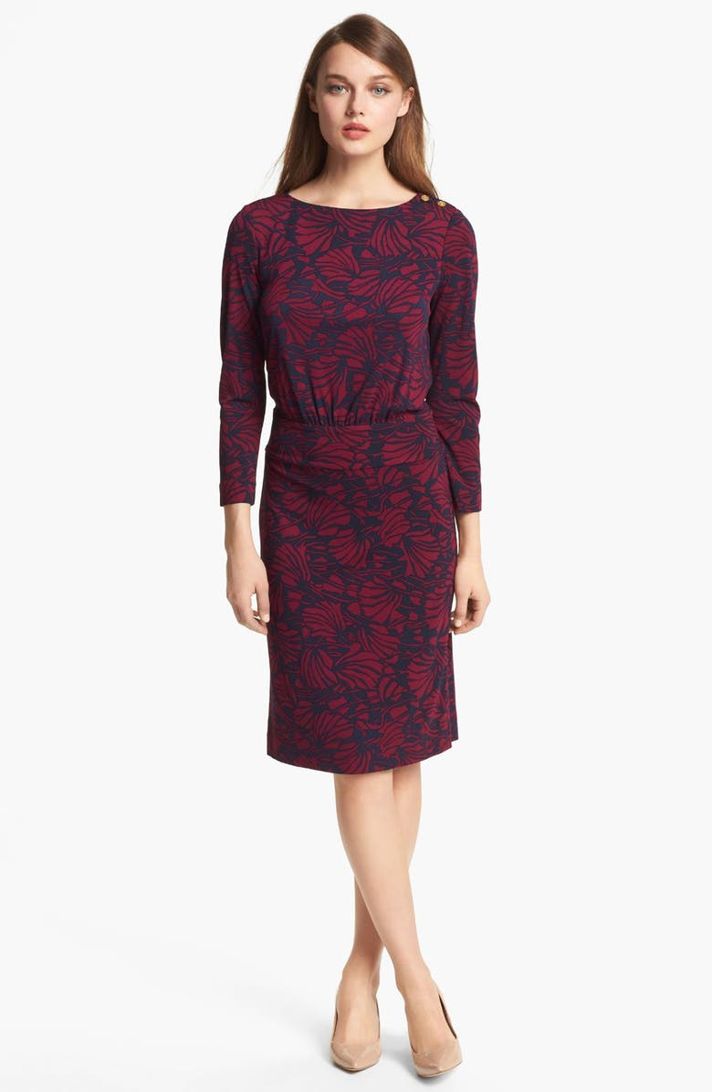 TORY BURCH 'Etta' Print Blouson Dress, Main, color, 400