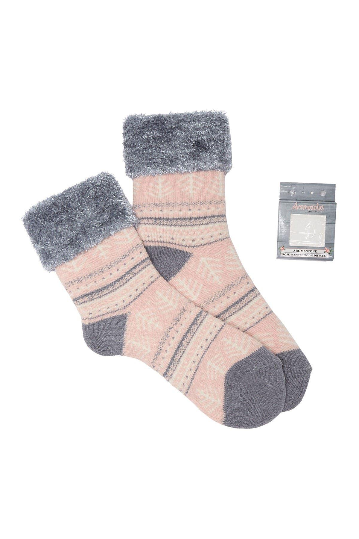 Image of Minx NY Chalet Lounge Rose Infused Socks