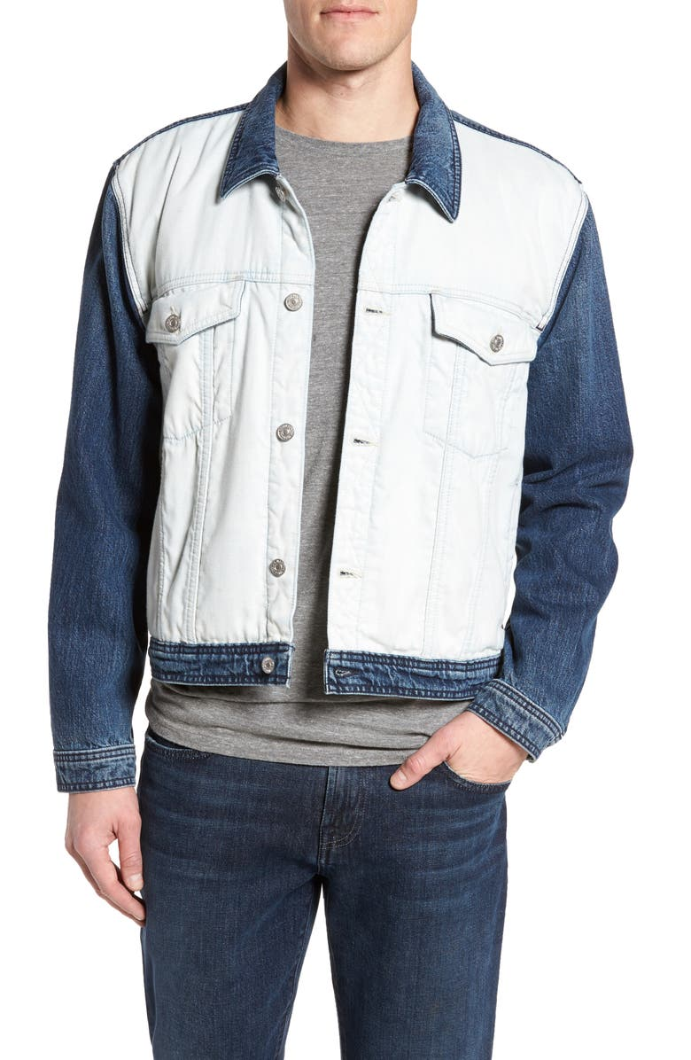 7 FOR ALL MANKIND<SUP>®</SUP> Inside Out Trucker Jacket, Main, color, VINTAGE BLUE