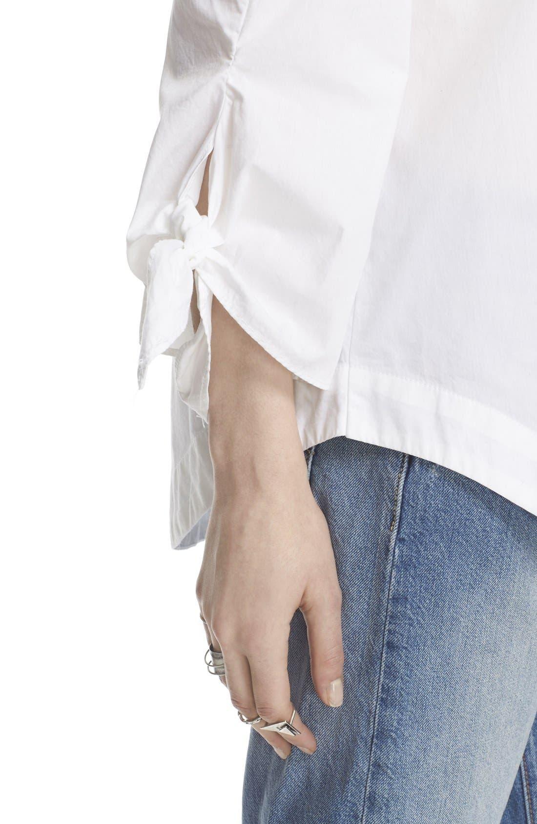 ,                             'Show Me Some Shoulder' Off the Shoulder Cotton Blouse,                             Alternate thumbnail 8, color,                             100
